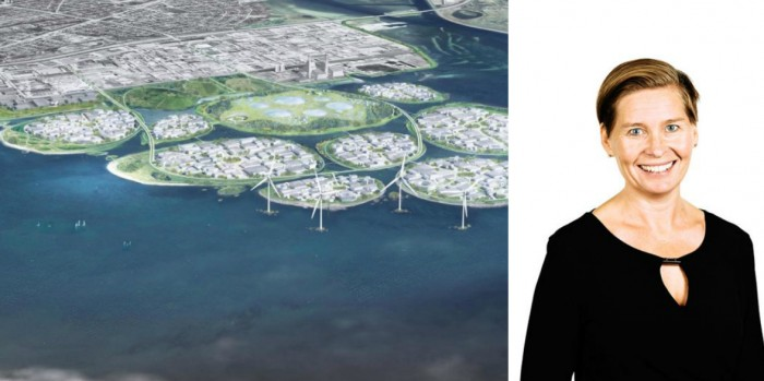 Ulrika Hallengren, CEO Wihlborg, says that the new islands near Copenhagen are not priority.