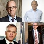 Per Wetke Hallgren (Jeudan), Anders Nissen (Pandox), Dag Tangevald-Jensen (Olav Thon) and Hans Wallenstam (Wallenstam).