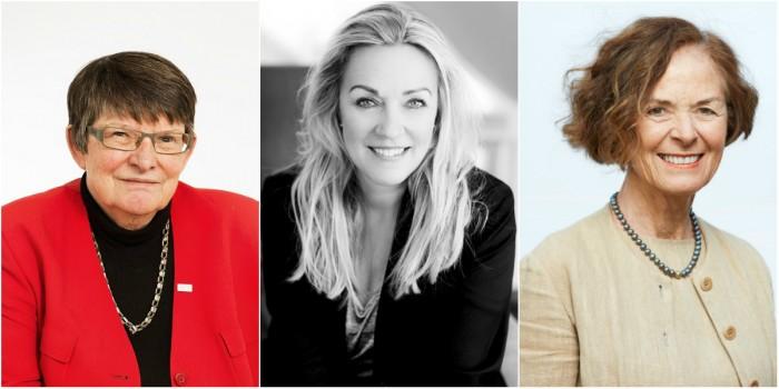 Christina Rogestam (Balder), Merete Haugli (Norwegian Property) and Siri Hatlen (Entra) are all chairs of the board.