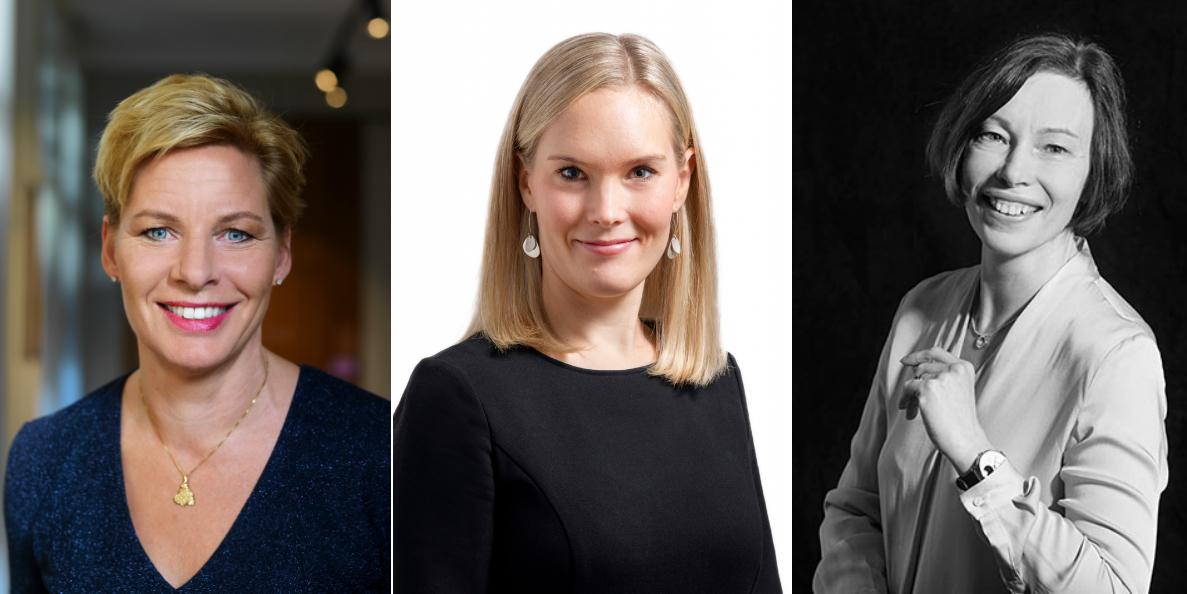 Annica Ånäs (Atrium Ljungberg), Henrica Ginström (Citycon) and Irene Kantor (Kojamo).