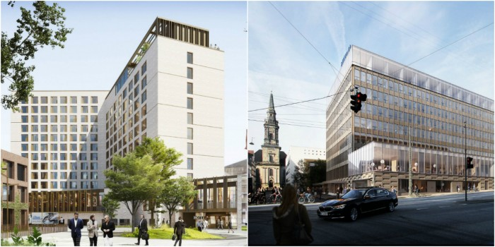 Two of the top hotel projects starting this year: Skanska sells Copenhagen Hotel to Pareto company and a conversion in Copenhagen.