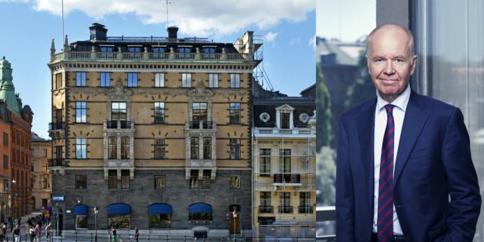 The property Stockholm Lejonet 4 (Adelswärdska huset) and Jonas Wiström, CEO of Ratos.