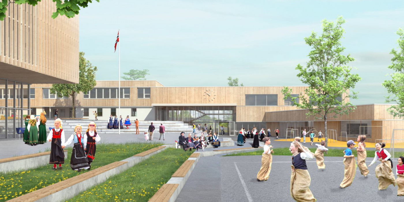 Peab builds new school and rec center.