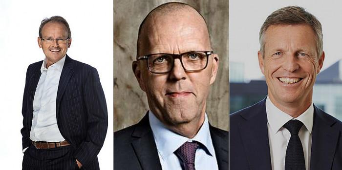 Marcel Kokkeel (resigned CEO, Citycon), Per W. Hallgren (Jeudan) and Henrik Saxborn (Castellum).