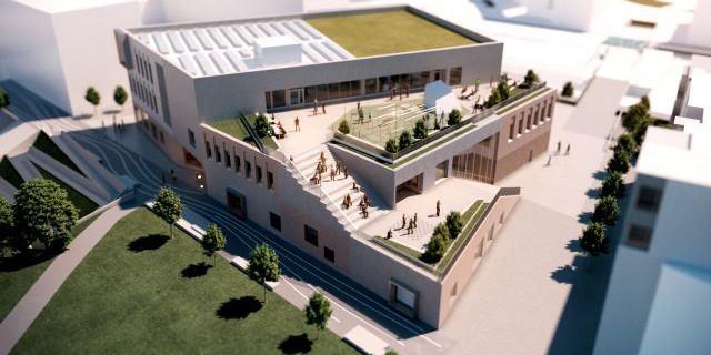 YIT builds school in Vuosaari, Helsinki.