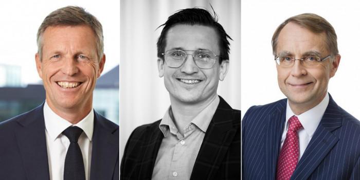 Henrik Saxborn (CEO, Castellum), Andreas Nelvig (CEO, NP3) and Eero Sihvonen (CFO, Citycon).