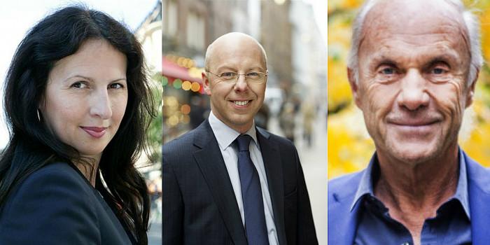 Biljana Pehrsson (CEO, Kungsleden), Bo Wikare (VP, Hufvudstaden) and Sven-Olof Johansson (CEO, Fastpartner).