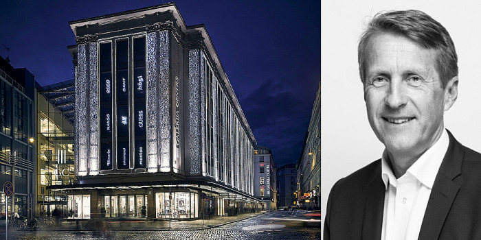 Galerija Centrs and Tore Mortensen, CEO of Linstow.