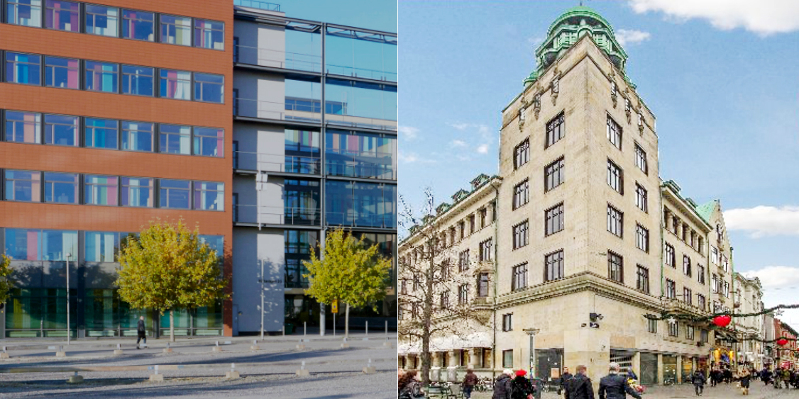 The Blåfjäll building in Stockholm and property in central Copenhagen.