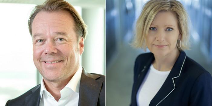 Henrik Melder and Hemfosa's CEO Caroline Arehult.