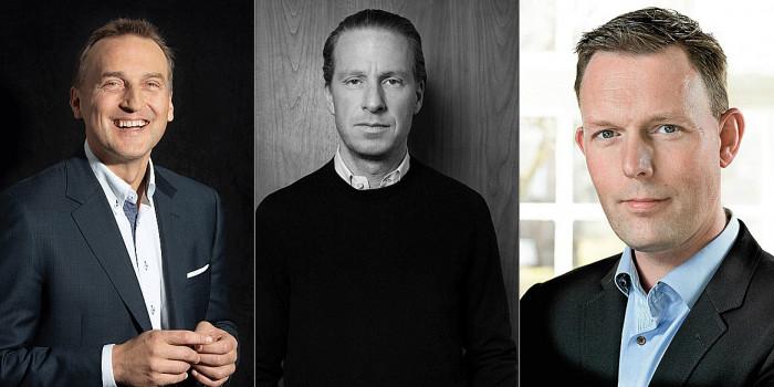 The CEOs Jani Nieminen, Oscar Engelbert and Jesper Arkil.