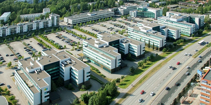 Spektri consists of five modern office buildings comprising c. 35,000 square meters net lettable area and is located in Otaniemi, the western business district of Helsinki.