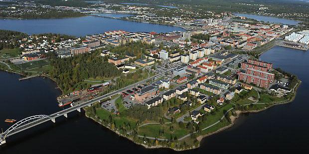 Aerial over Luleå.