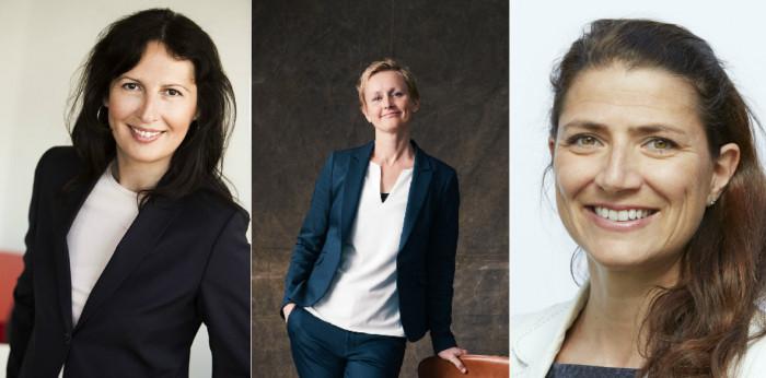 Biljana Pehrsson (CEO of Kungsleden), Stina Lindh Hök (COO, Nyfosa) and Sonja Horn (CEO, Entra).