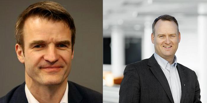 Knut Ekern and Morten Grongstad from AF Gruppen.