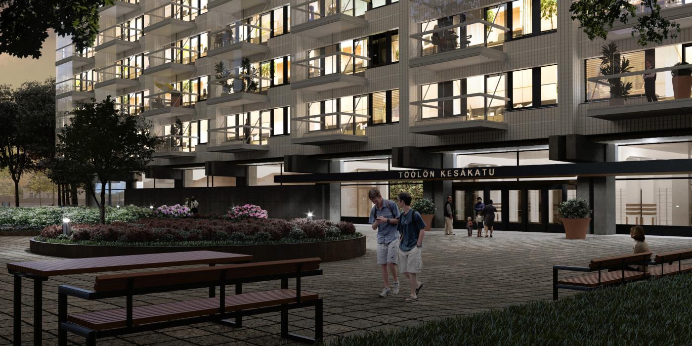 Skanska converts an office building into apartments in Helsinki.