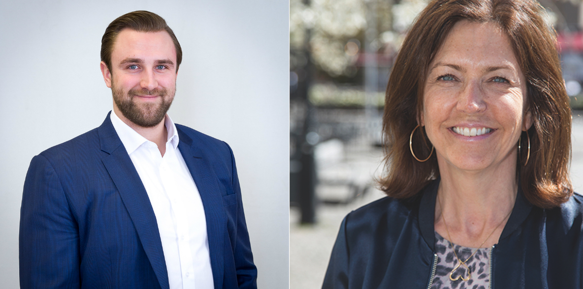 Aleksi Aitala, CEO and Partner of Juhola Asset Management, and Marie Bucht, CEO of Novi Real Estate.
