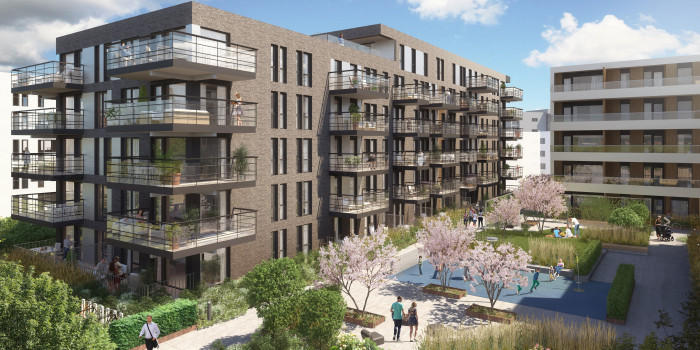Vision of the new apartments in Tønsberg.