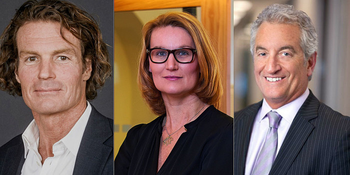 How much have Rutger Arnhult (CEO of Klövern), Eva Landén (CEO of Corem) and F. Scott Ball (CEO of Citycon) divested so far in 2019?