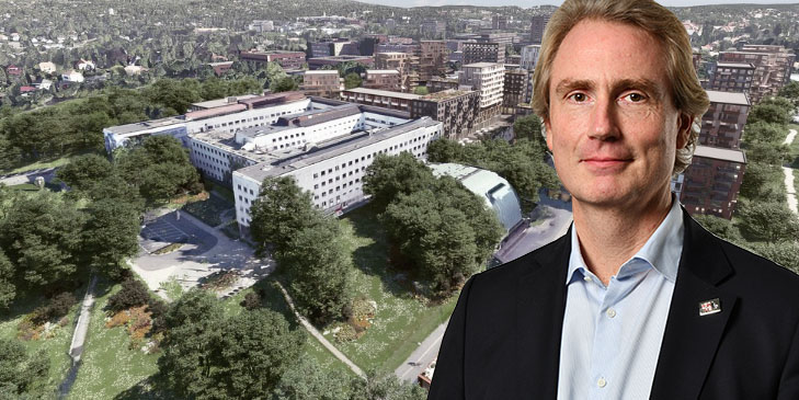Erik Selin has made a bid on the Marienlyst plot in central Oslo.