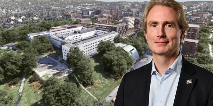 Erik Selin has made a bid on the Marienlyst plot in central Oslo.