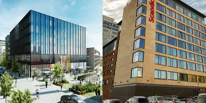 Two of the hotel projects in Oslo in 2020.