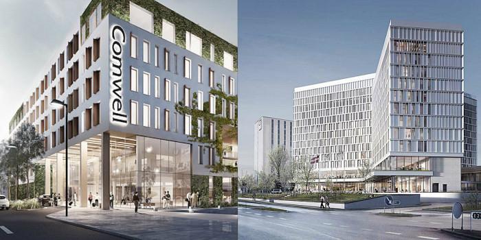 Two of the hotel projects in Copenhagen in 2020.