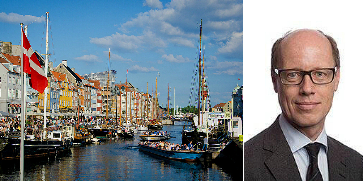Nyhavn in Copenhagen and Lars Falster, CEO of Copenhagen Capital.