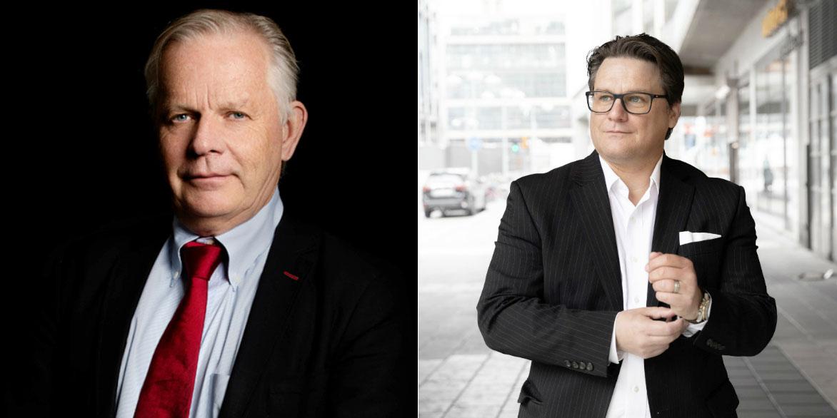 Jan-Erik Höjvall, CEO of Amasten, and Mattias Lundgren, CEO of SSM.