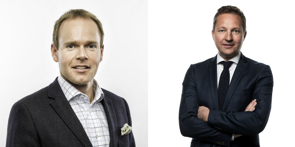 Jussi Rouhento, Managing Director Catella Asset Management, and Fredrik Jonsson, CEO of Niam.