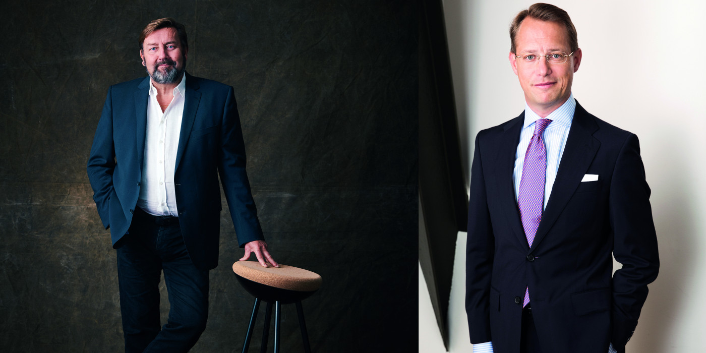 Jens Engwall (CEO of Nyfosa) and David Mindus (CEO of Sagax).