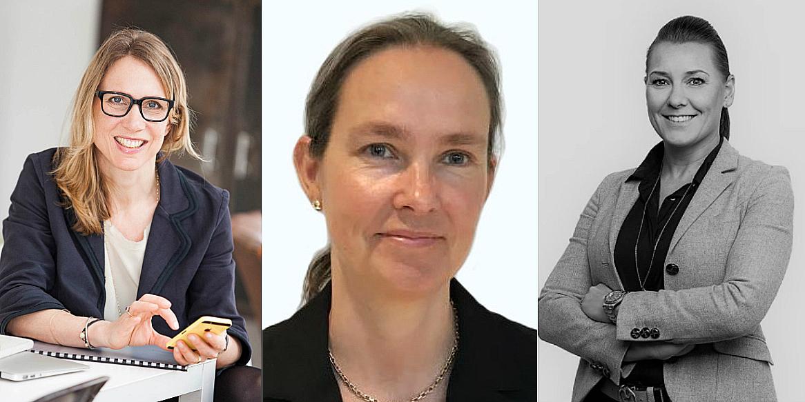 Ulrika Werdelin (Board Member of Sagax), Camilla AC Tepfers (Entra) and Cecilia Vestin (Fastpartner).