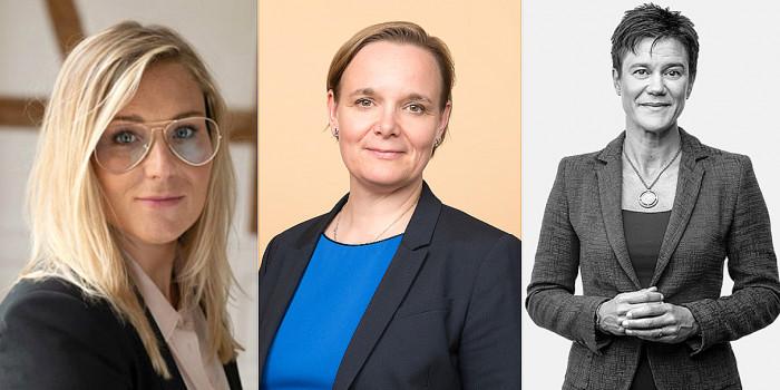 Signe Dybdal Knudsen (Jeudan), Katri Harra-Salonen (Kojamo) and Carola Lavén (Castellum).