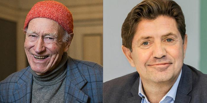 Olav Thon, CEO of Olav Thon Eiendomsselskap, and Arne B. Sperre, CFO