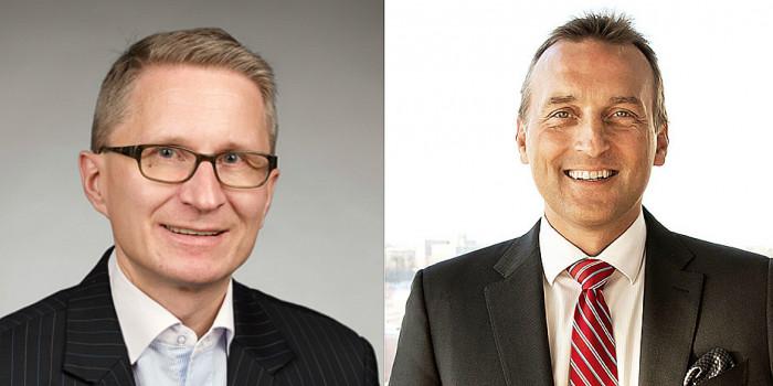 Ilkka Pitkänen, CFO of SRV, and Jani Nieminen, CEO of Kojamo.