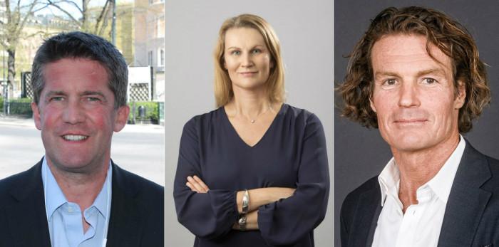 Ilija Batljan, CEO of SBB, Eva Landén, CEO of Corem, and Rutger Arnhult, CEO of Klövern.