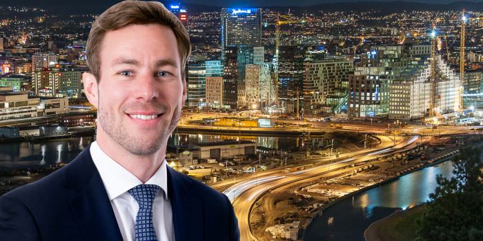 Montage of Anne-Jan Jager, Director of Tristan Capital Partners, and Stockholm skyline.