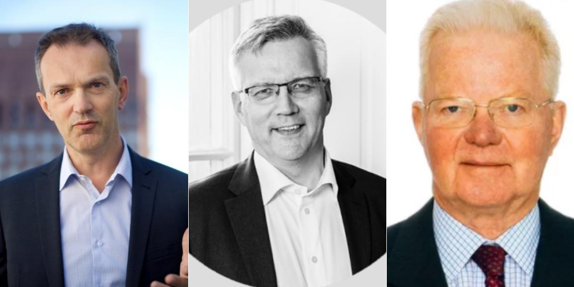 Kjetil Houg (Folketrygdfondet), Nils-Ola Omma (Borudan) and Fredrik Lundberg (LE Lundberg).