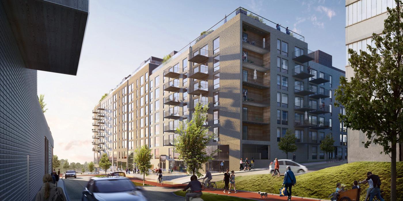 Skanska builds multi-family buildings for Stena Fastigheter in Gothenburg.