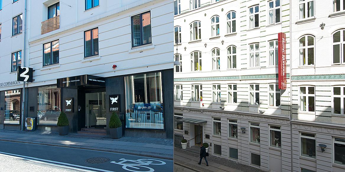First Hotel Mayfair and First Hotel Twentyseven in Copenhagen.