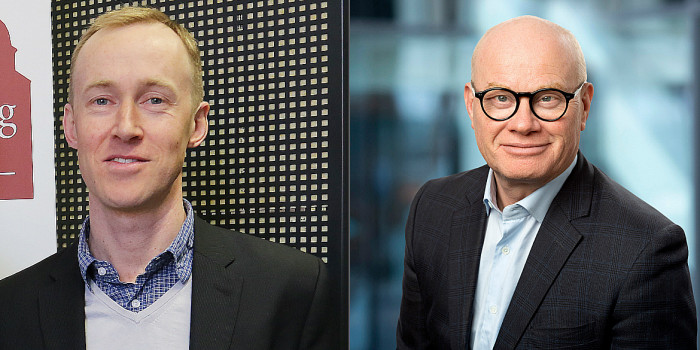 Johan Johander, Head of Research at Benchmarking Alliance, and Bård Bjølgerud, CEO at Pangea Property Partners