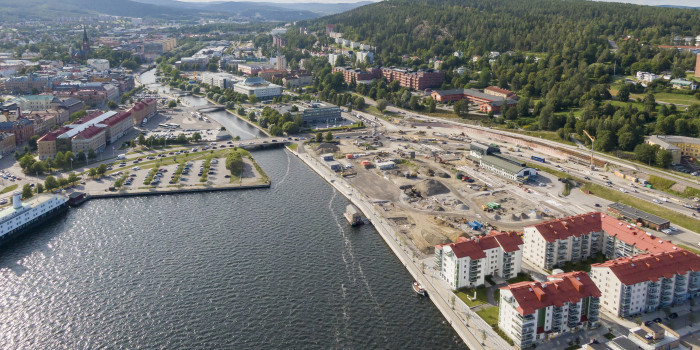 Norra kajen (the North Quay) in Sundsvall.