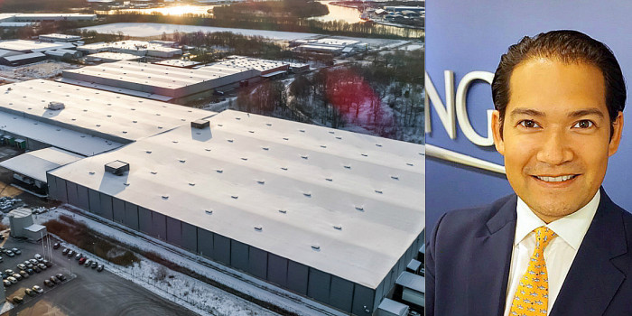The acquired assets in Norrköping, and Thorsten Slytå, MD and Head of Scandinavia at Barings.