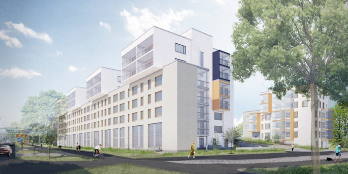 Veritas develops four residential buildings that comprise 119 rental apartments in the vicinity of the Niittykumpu metro station.