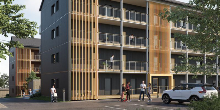 K-Fastigheter buys building right to build 60 rental apartments in Gävle.