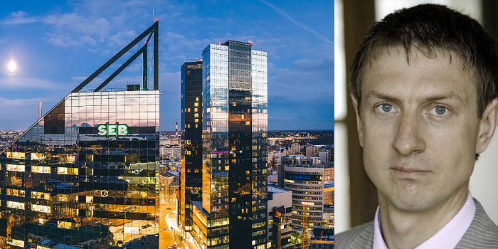 SEB's HQ in Tallinn, and Madis Raidma, CEO of East Capital Real Estate.