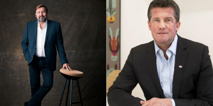 Jens Engwall, CEO of Nyfosa, and Ilija Batljan, CEO of SBB.