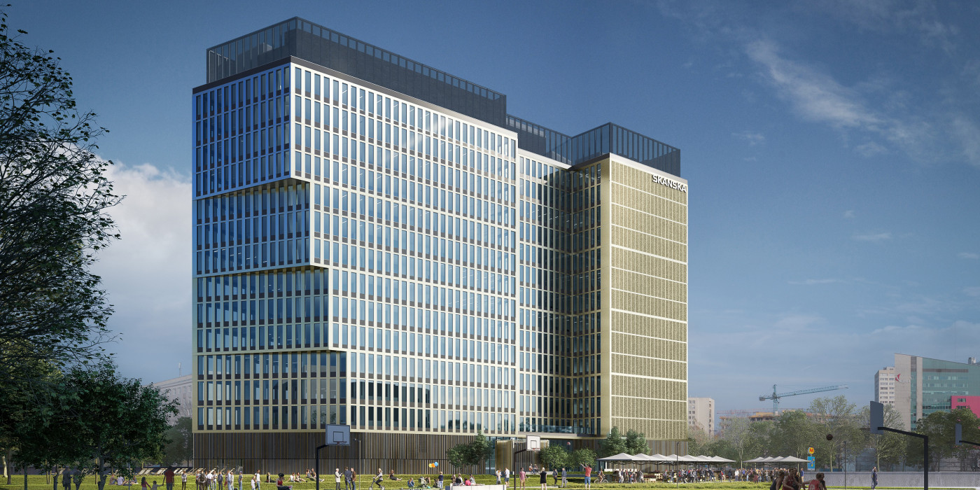 The P180 office building.