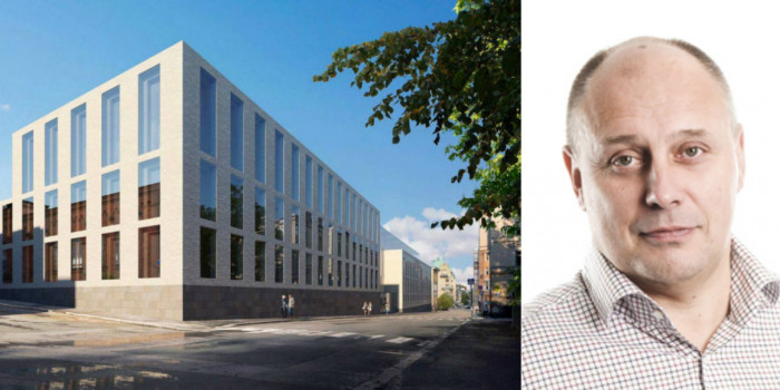 A vision of the EUR 130 million project and Antti Raunemaa, Unit Director at SRV.