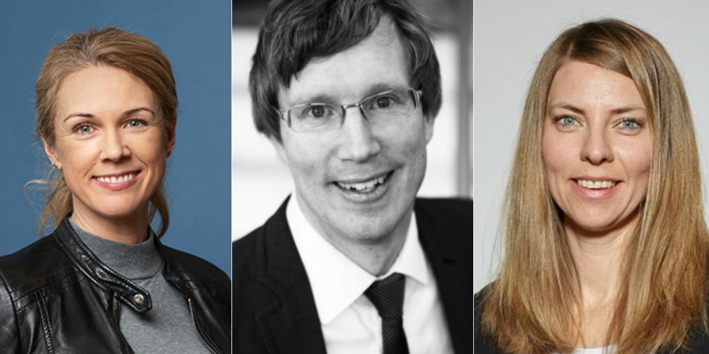 Maria Sidén, Daniel Gerlach, and Ulrika Grewe Ståhl.